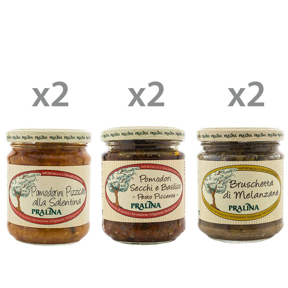 Pralina 6 vasetti misti - Sughi & Condimenti