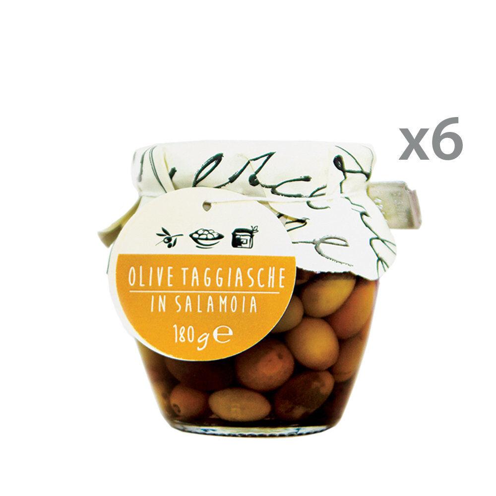 La Bella Angiolina 6 orci - Olive Taggiasche in salamoia 180 gr