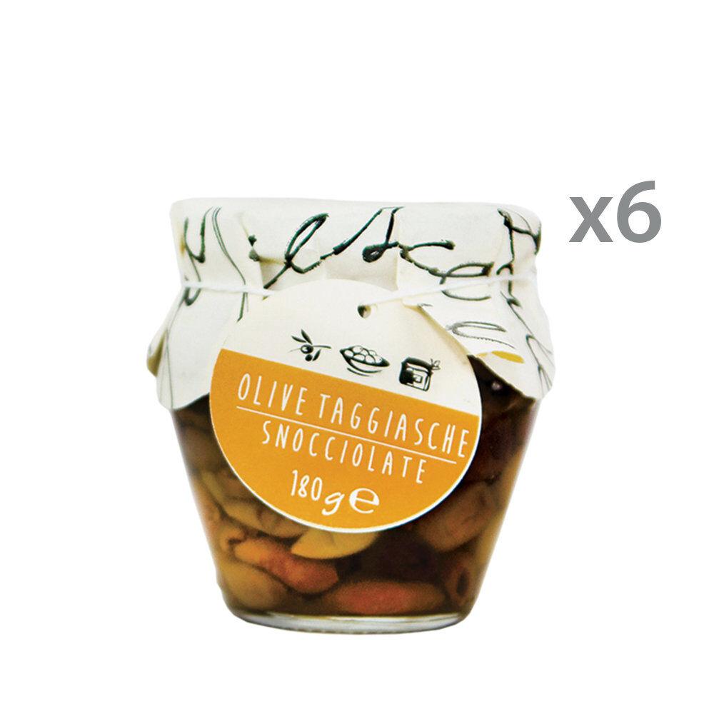 La Bella Angiolina 6 orci - Olive Taggiasche denocciolate 180 gr