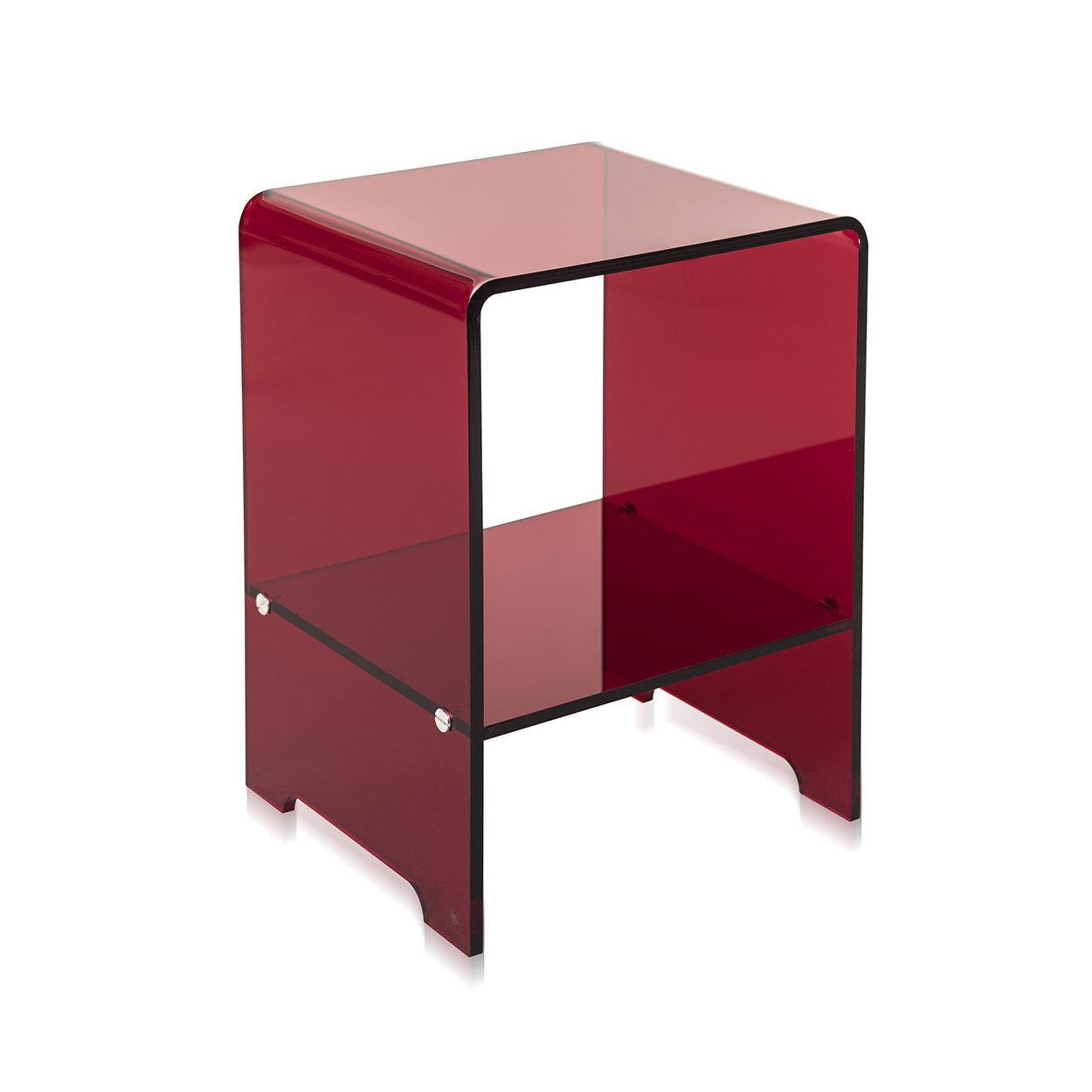 iplex comodino accanto, rosso trasparente