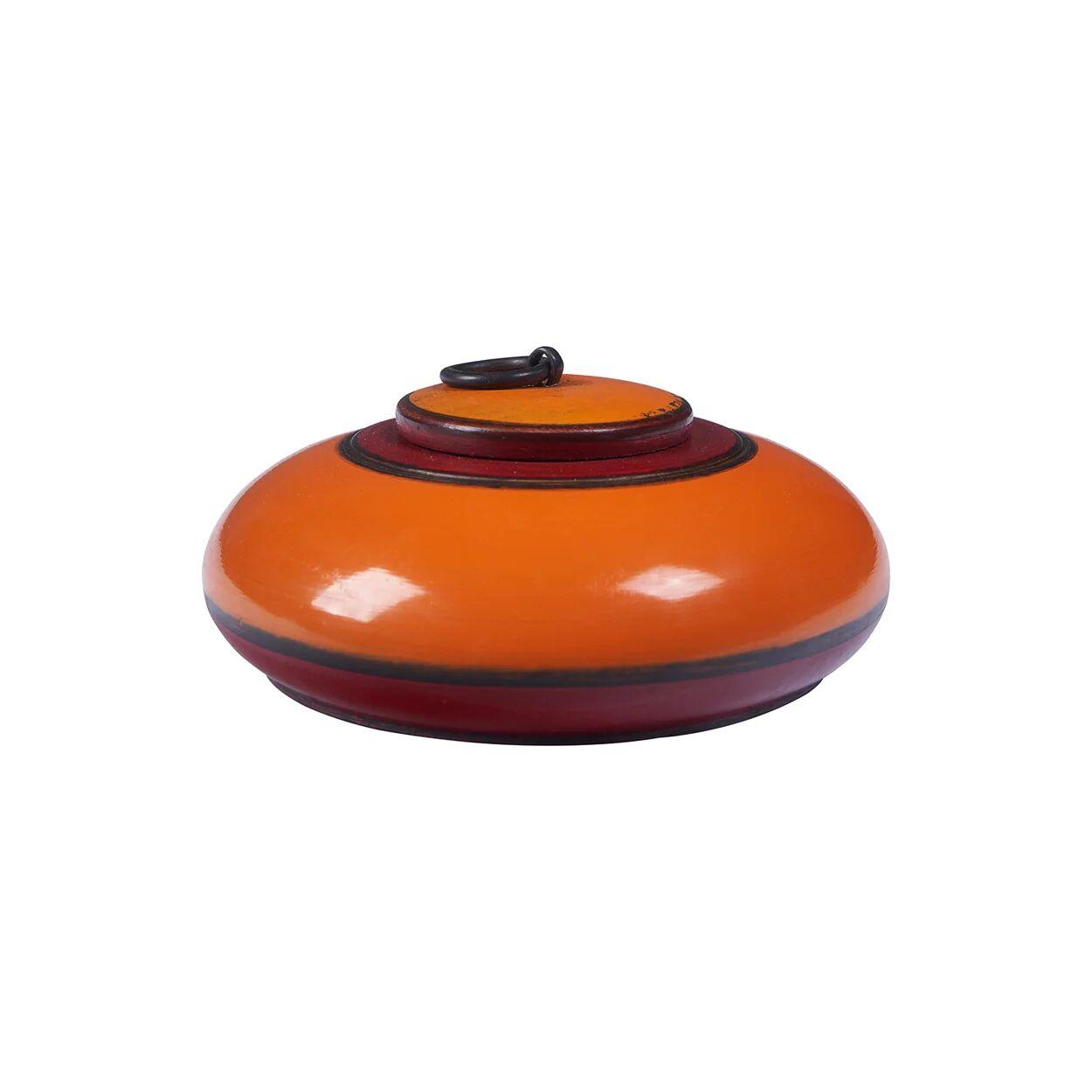 novità home natural style scatola tonda con coperchio in legno laccato arancione bordeaux
