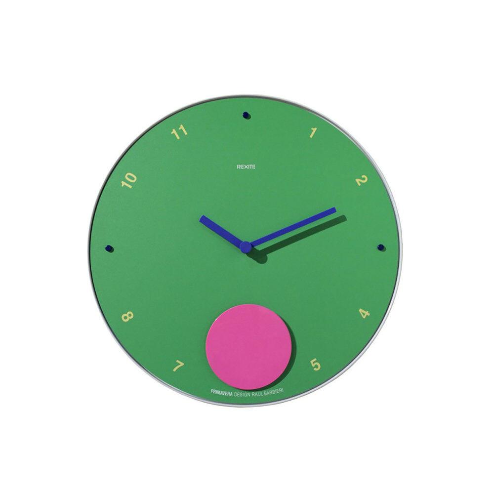 Rexite Orologio a pendolo da parete, APPUNTAMENTO PRIMAVERA, verde