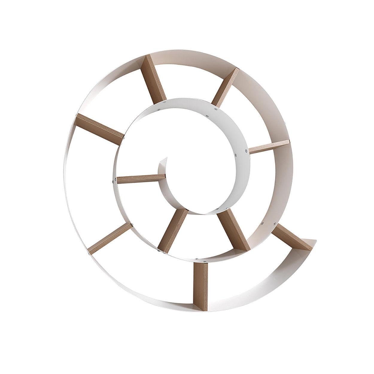 Selezione complementi Mensola da parete CHIOCCIOLA, bianco/marrone