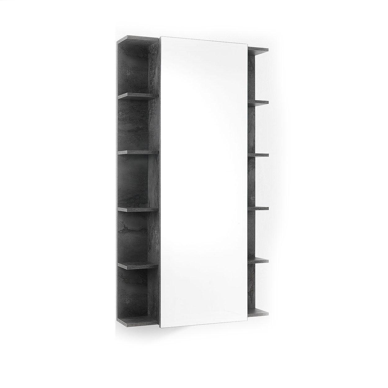Una casa minimal chic Scarpiera/Scaffale con specchio EFFE ossido
