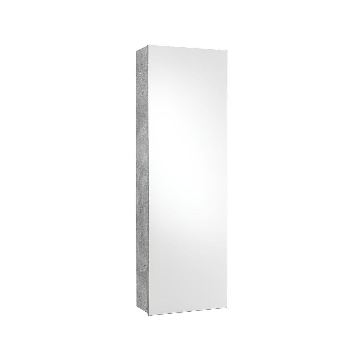 TFT Ingressi Scarpiera/Scaffale con specchio FREE, cemento