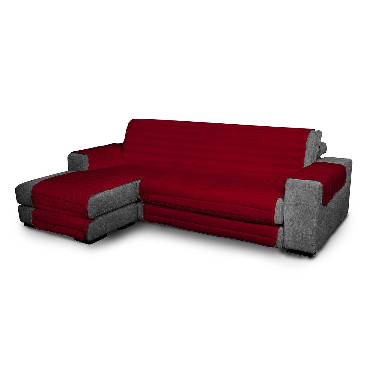Arreda il tuo divano Copridivano trapuntato in microfibra anallergica doubleface ELEGANT, bordeaux