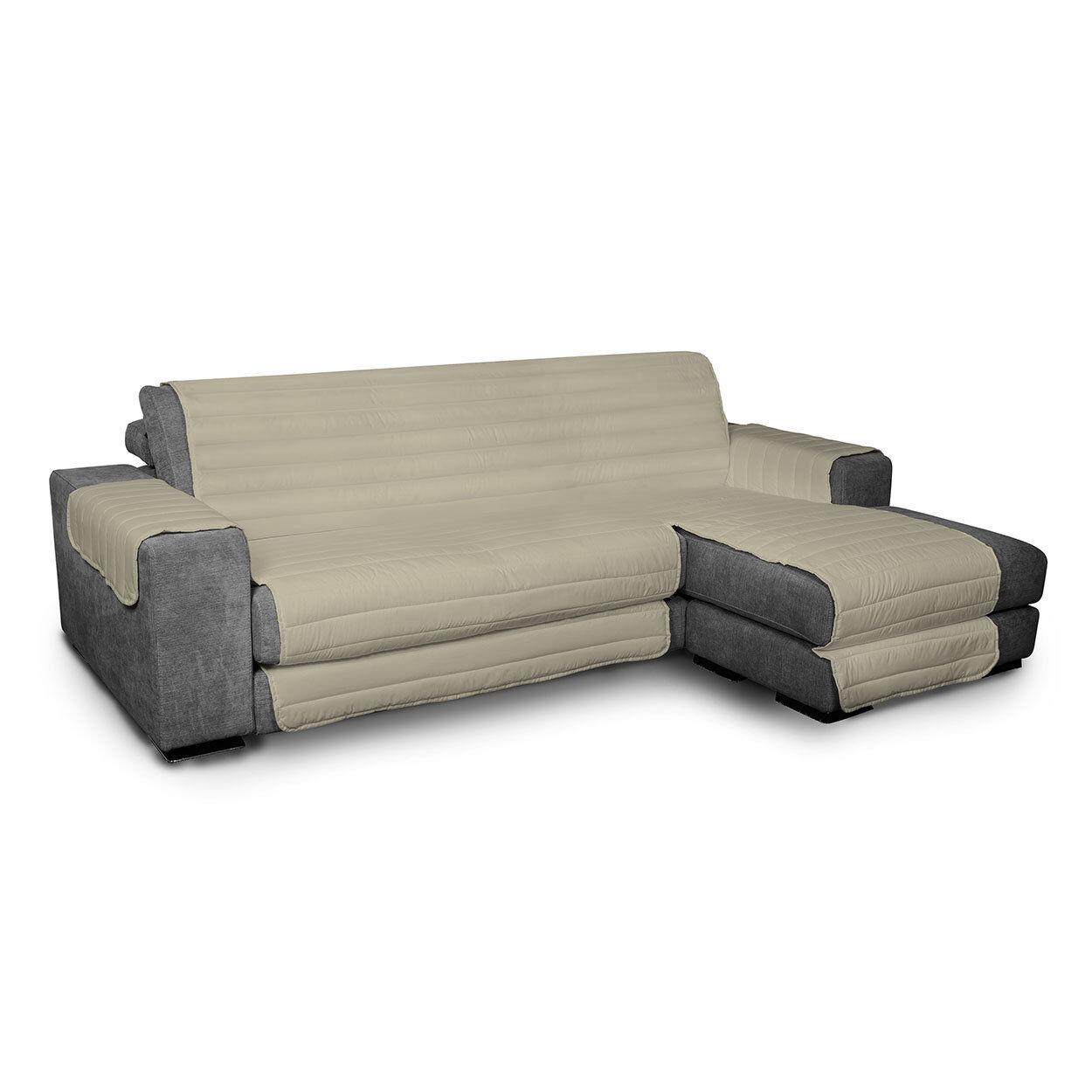 Arreda il tuo divano Copridivano trapuntato in microfibra anallergica doubleface ELEGANT, tortora