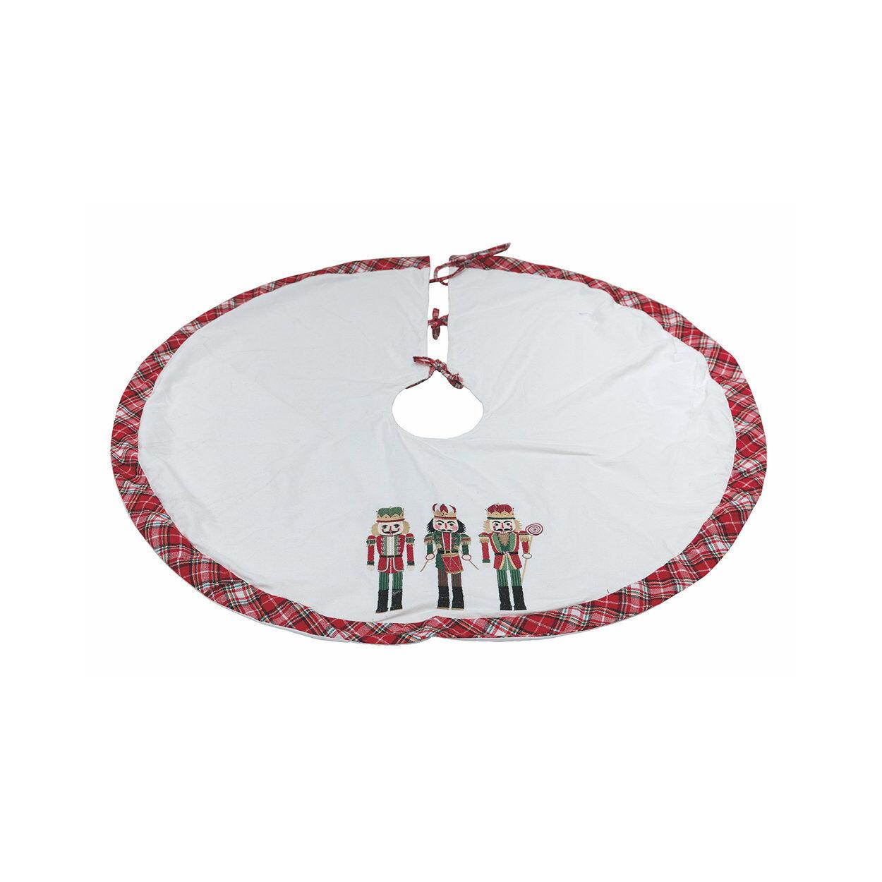 La tavola di Natale Sotto albero 122cm TRENDY CHRISTMAS, bianco/rosso/verde