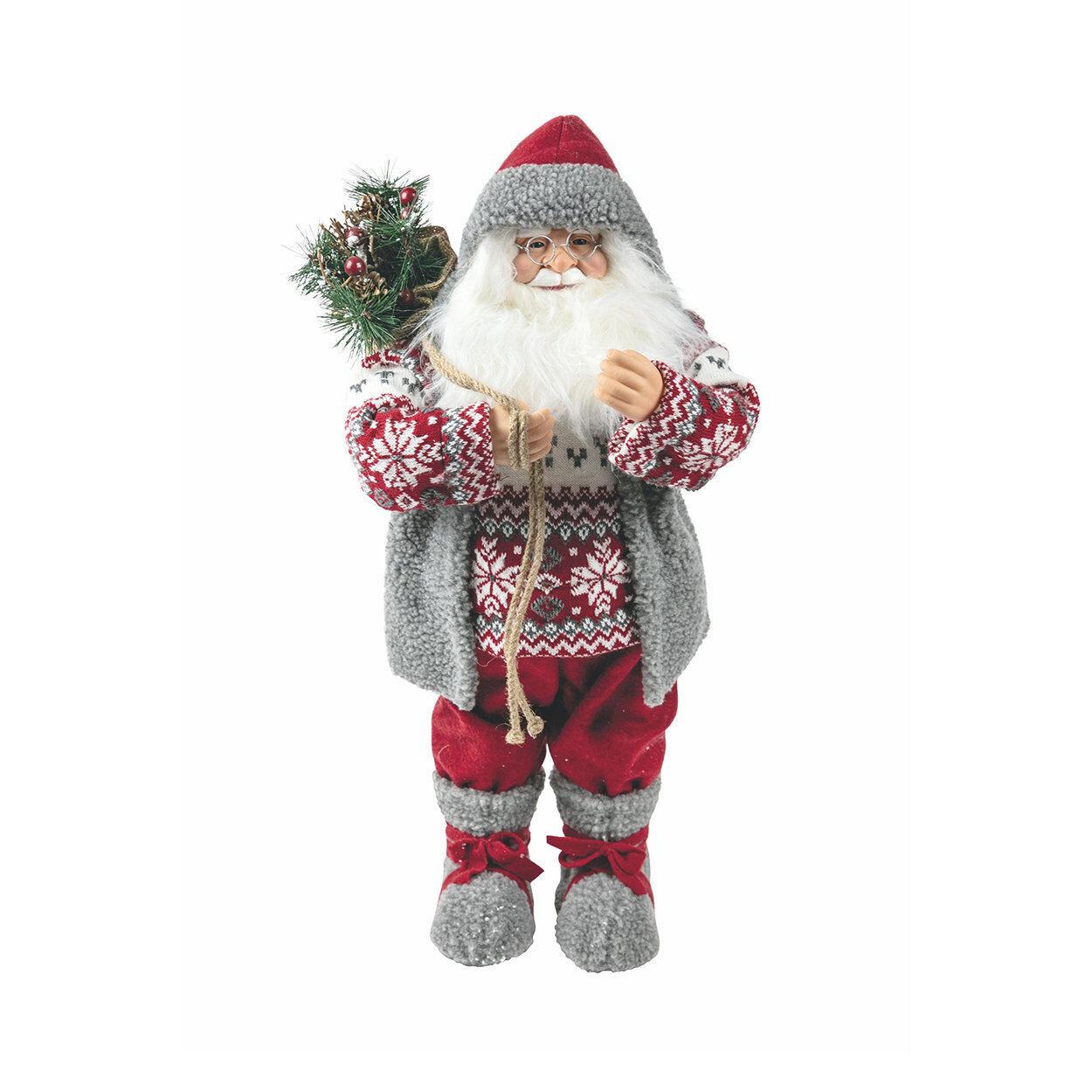 La tavola di Natale Babbo, grigio/rosso