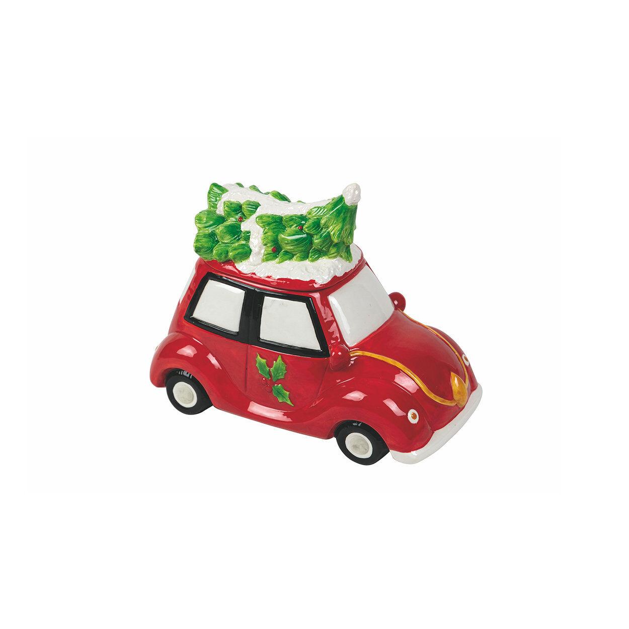 La tavola di Natale Scatola decorativa macchina TRADITIONAL CHRISTMAS, rosso/verde/bianco