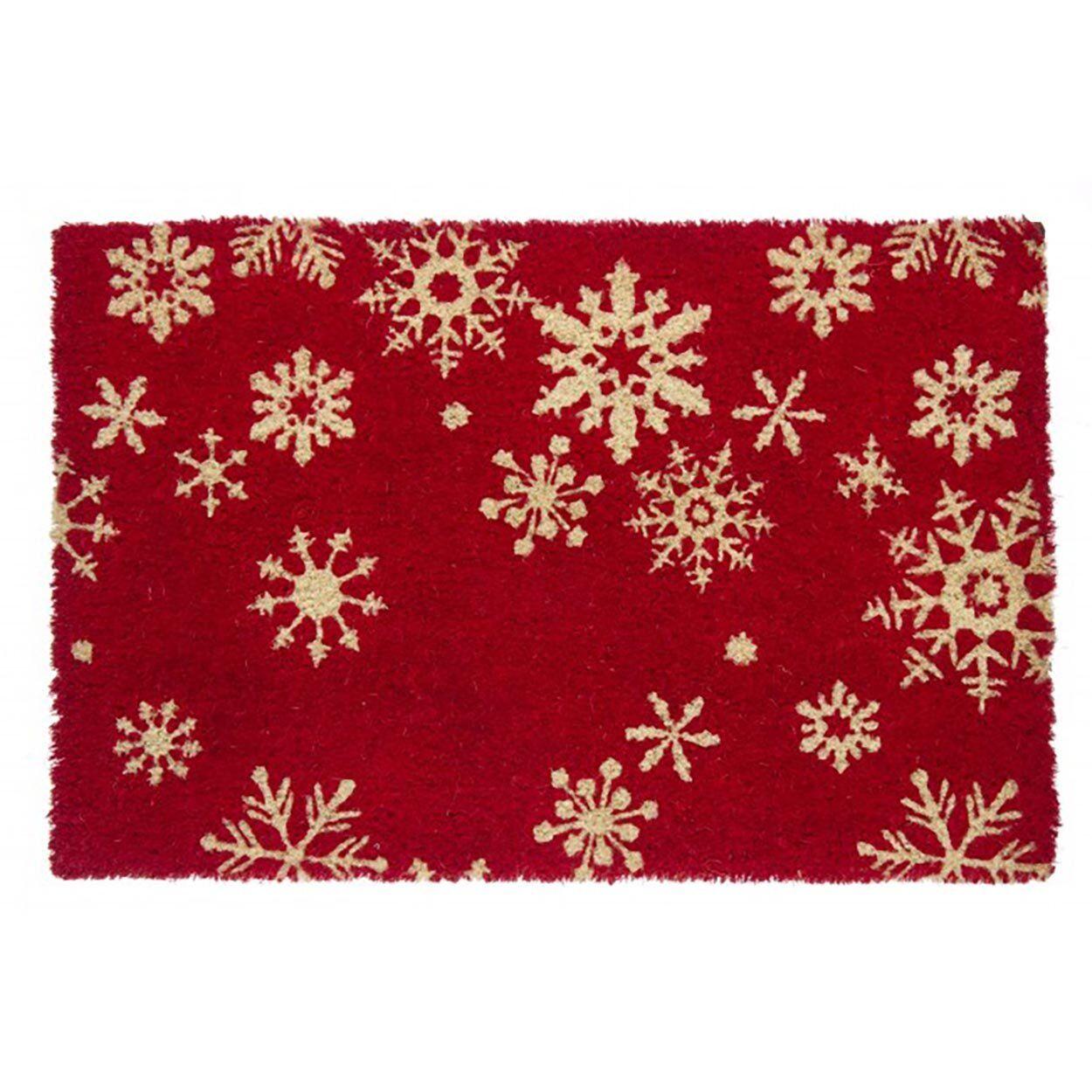 Natale Zerbino festività fiocco neve rosso 40x60