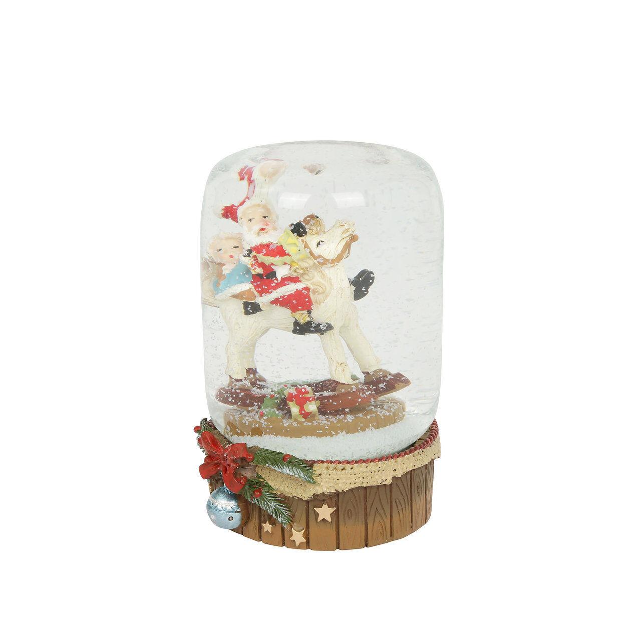 La tavola di Natale Sferacqua Cavallo con Babbo Natale e bimba