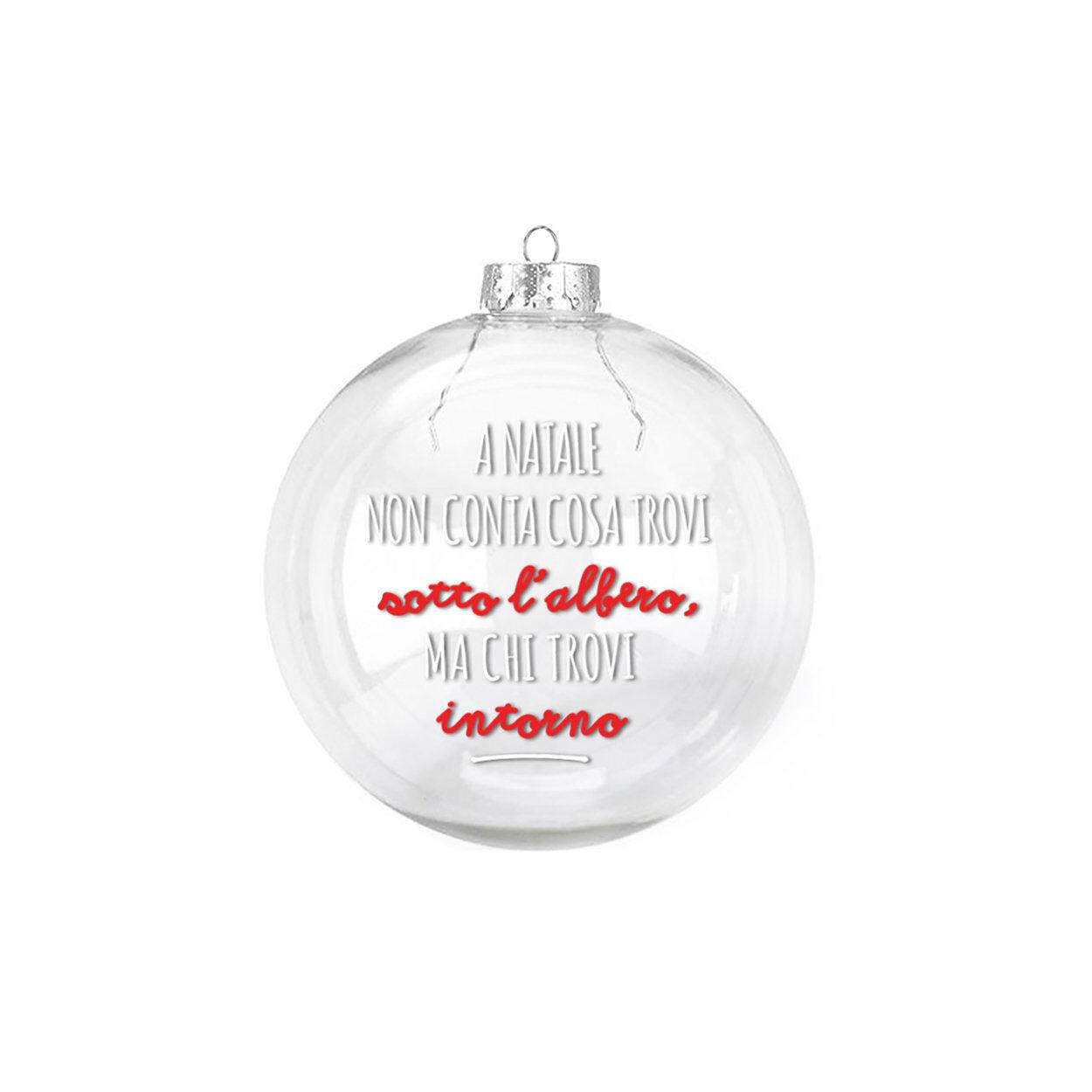 Dudecor Palla di Natale in Vetro INTORNO 14 cm, multicolore