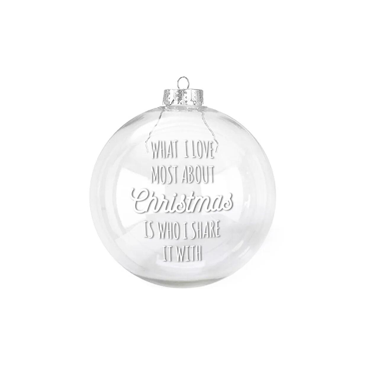 Dudecor Palla di Natale in vetro SHARE 14 cm, multicolore
