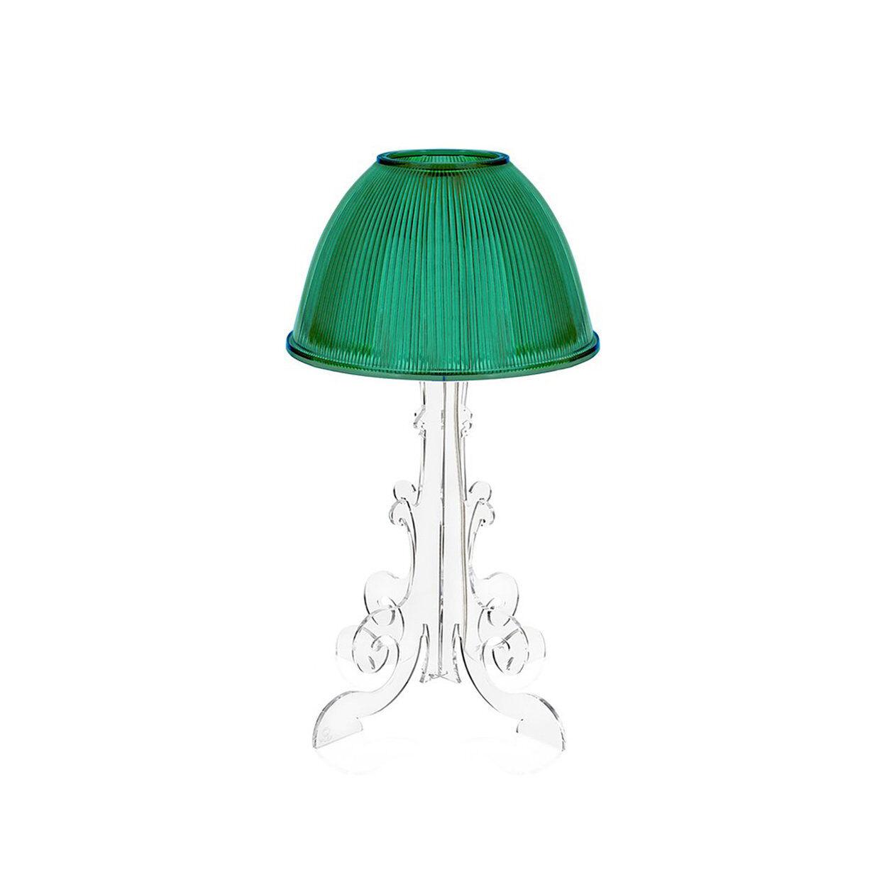 Iplex Lampada da tavolo Cancan 19, verde trasparente