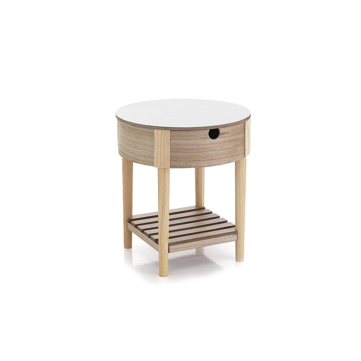 arredo funzionale tavolino / comodino 1 cassetto alba, bianco