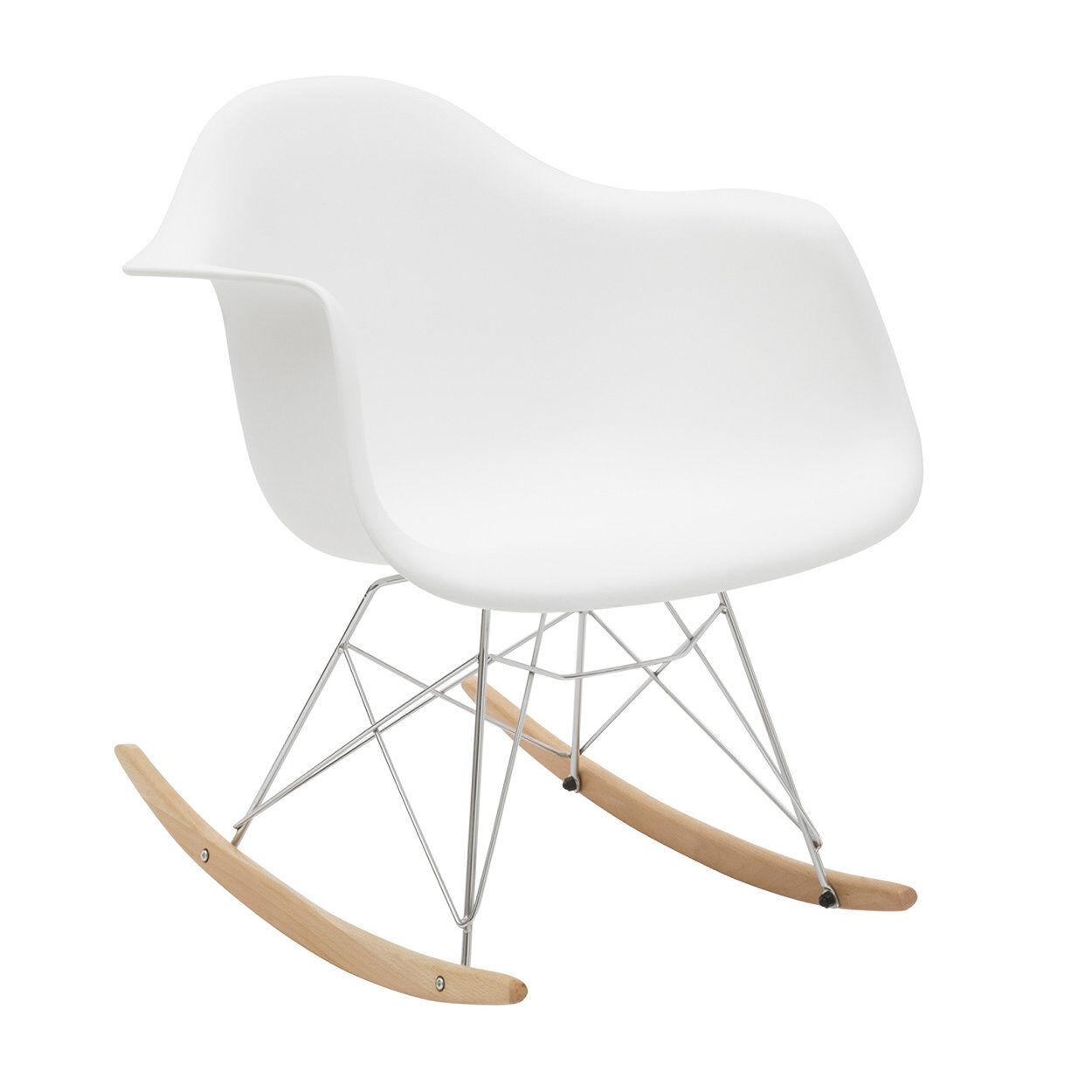 zanini design sedia a dondolo heidi bianco