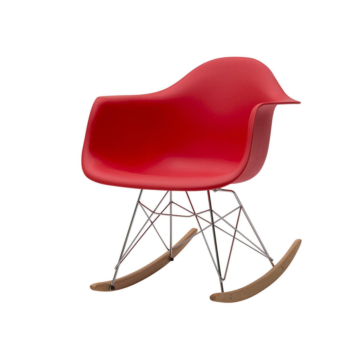 zanini design sedia a dondolo heidi rosso