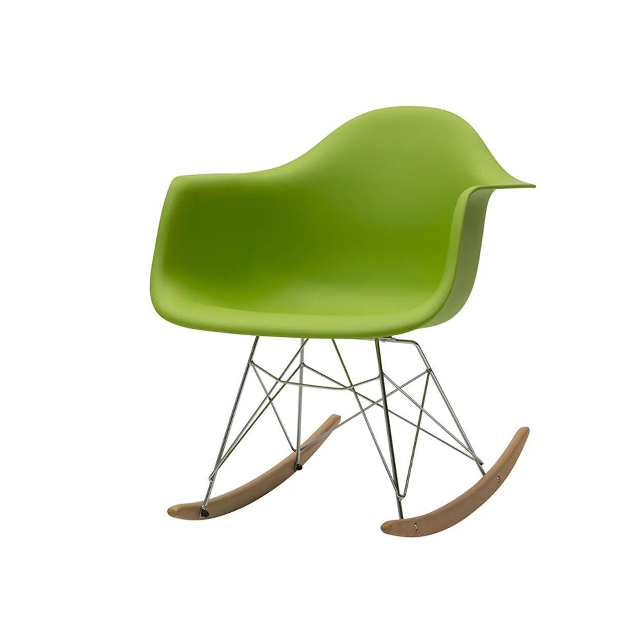 zanini design sedia a dondolo heidi verde