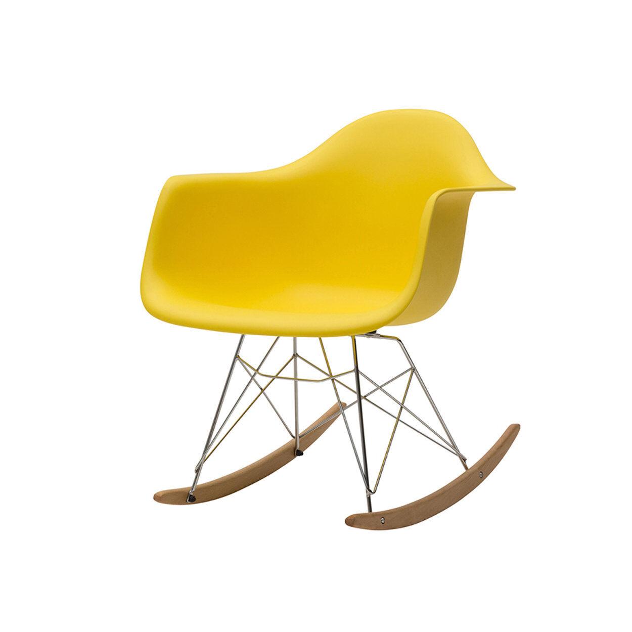 zanini design sedia a dondolo heidi giallo