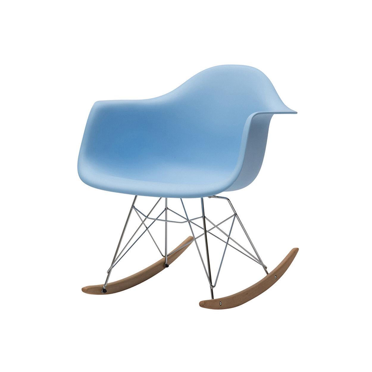 zanini design sedia a dondolo heidi azzurro