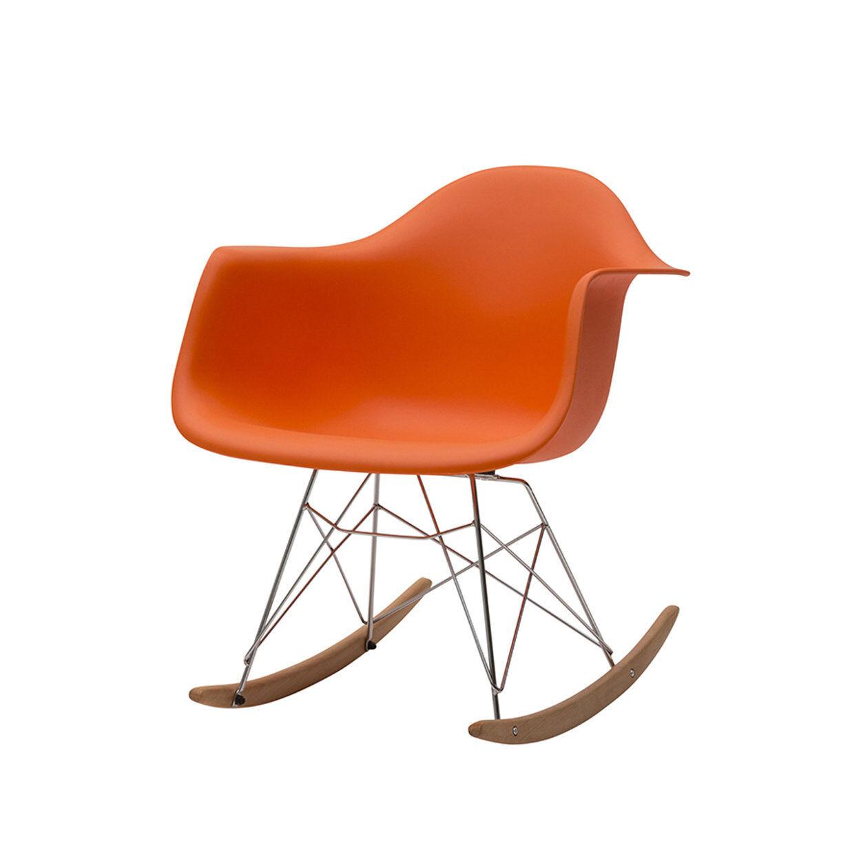 zanini design sedia a dondolo heidi arancio