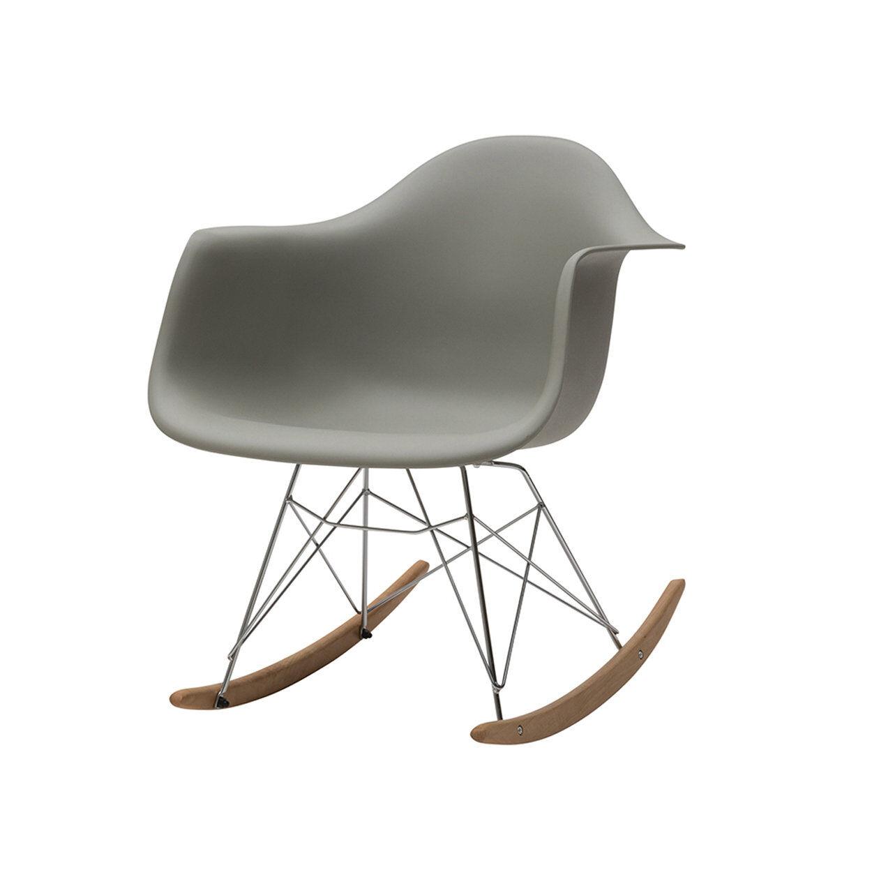 zanini design sedia a dondolo heidi grigio