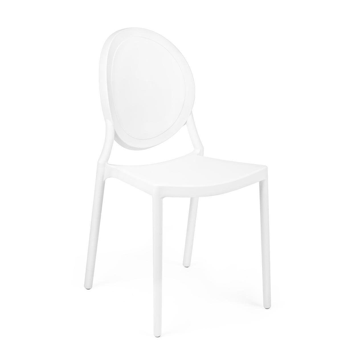 Design trasparente Sedia Shannon bianca