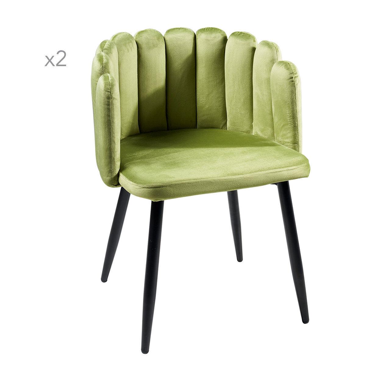 Novità Home Hug - Set 2 sedie pozzetto verde chiaro