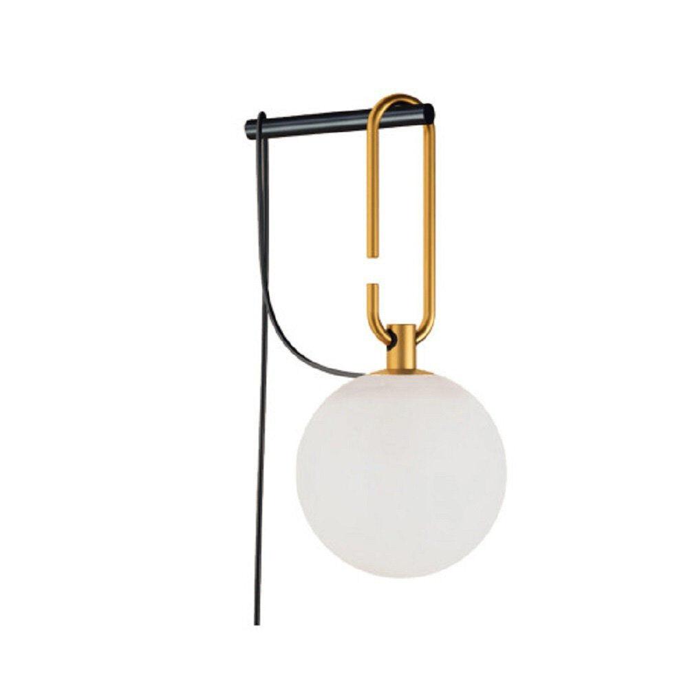 artemide lampada da parete nh1217, oro/bianco