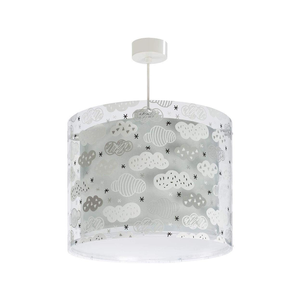 cameretta lampadario sospensione nuvolette grigie, multicolore
