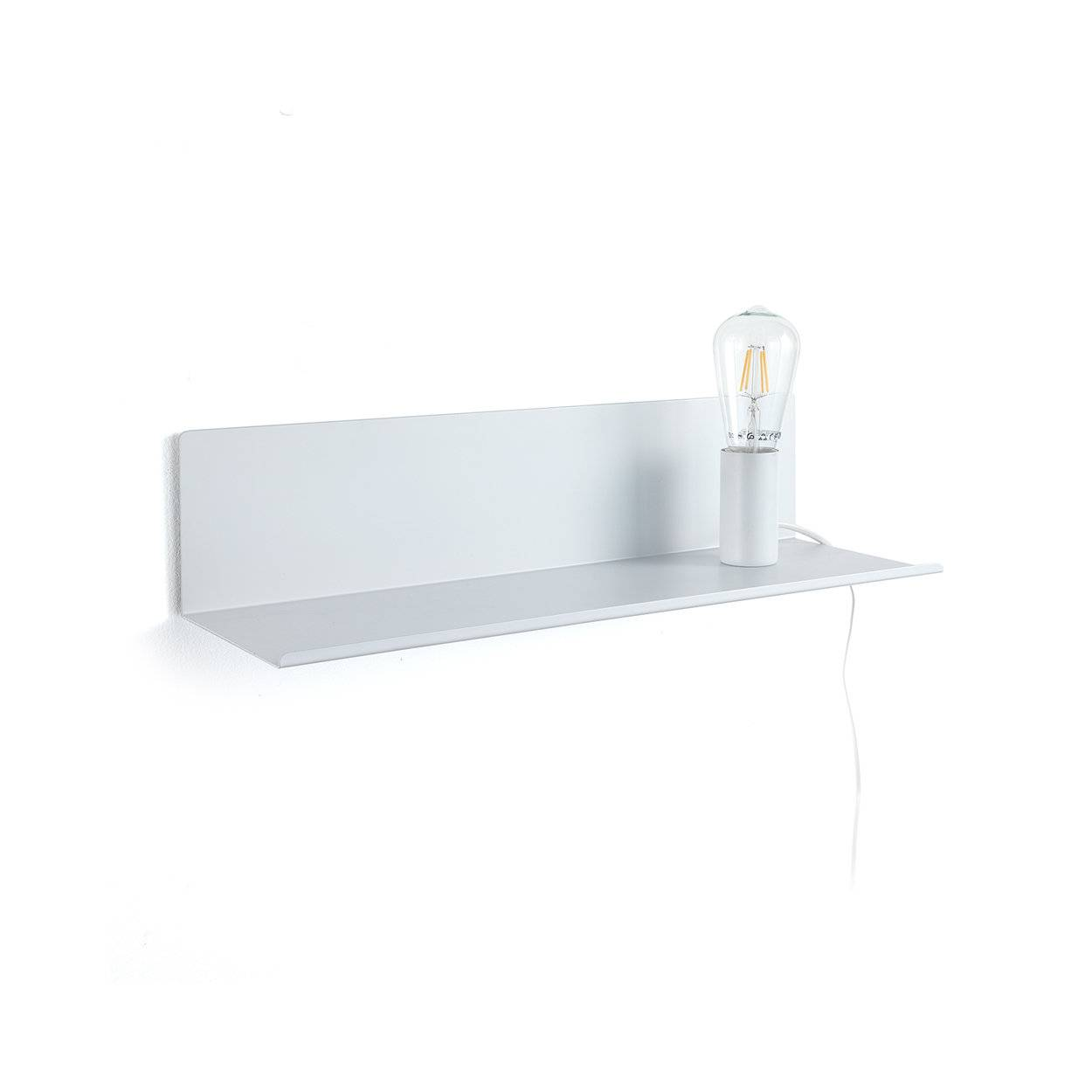 speciale luce by tomasucci lampada / mensola / comodino magic shelf, bianco
