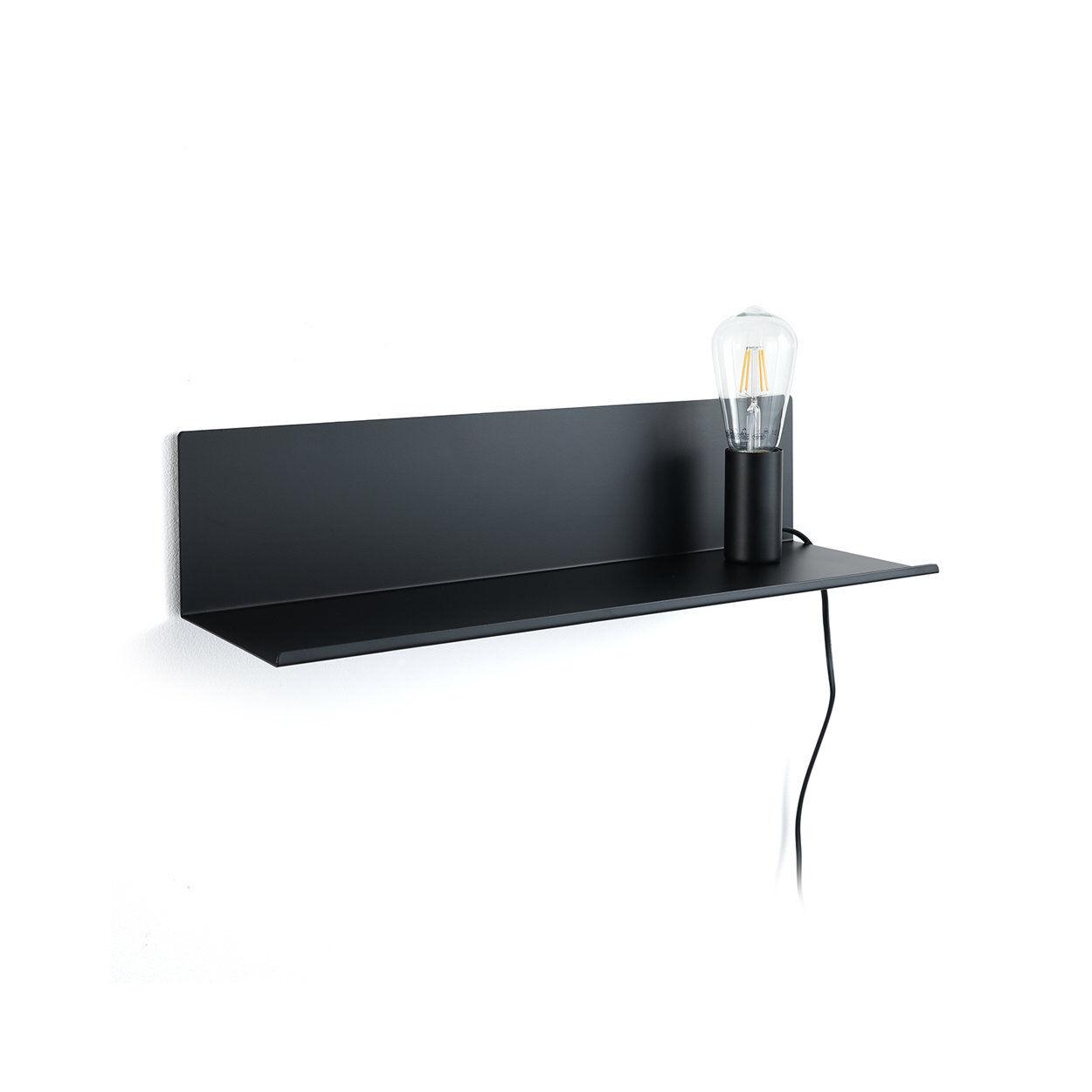 speciale luce by tomasucci lampada / mensola / comodino magic shelf, nero