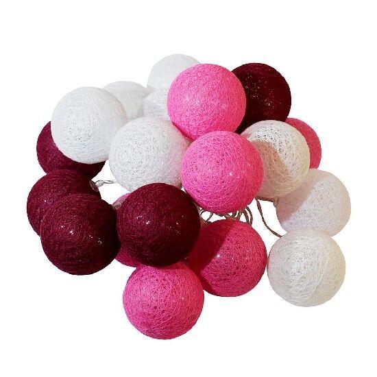 homemania luci decorative cotton balls, multicolore