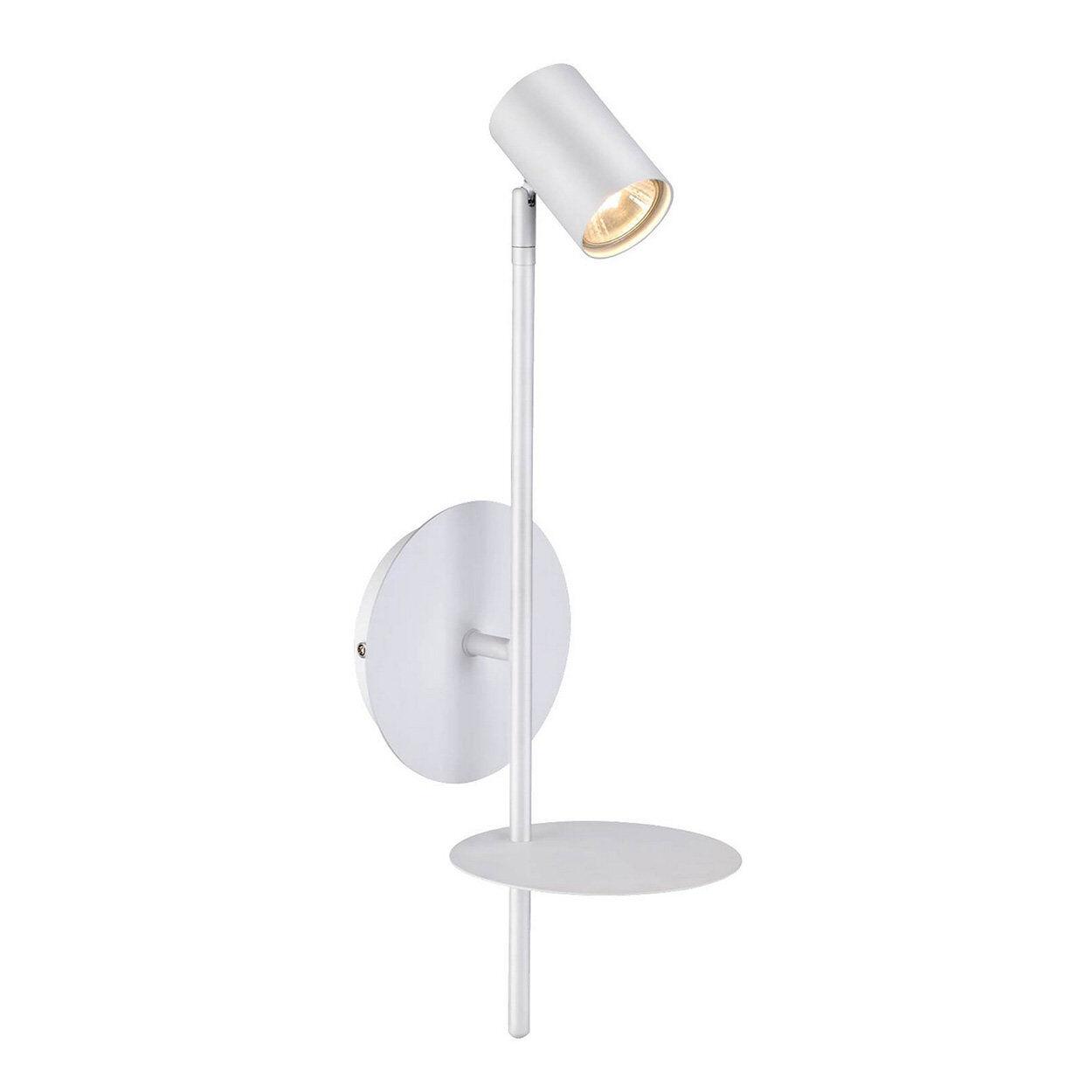 homemania lampada a parete rogna, bianco