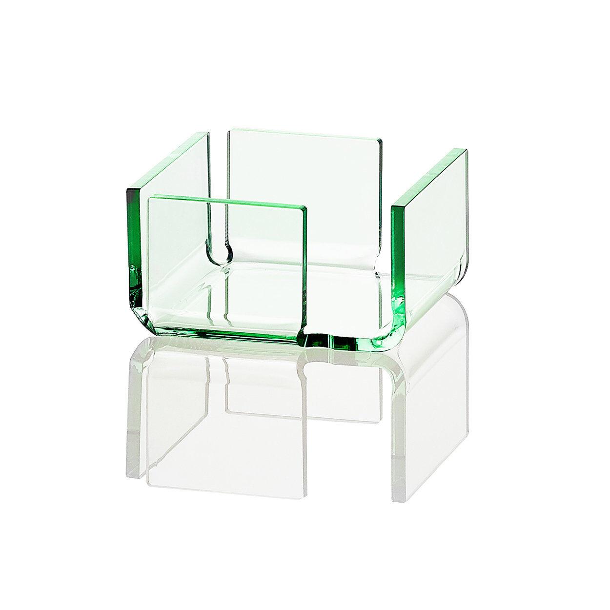 INOXRIV Flash verde 8 porta bustine zucchero / tovaglioli 10,4x9,9