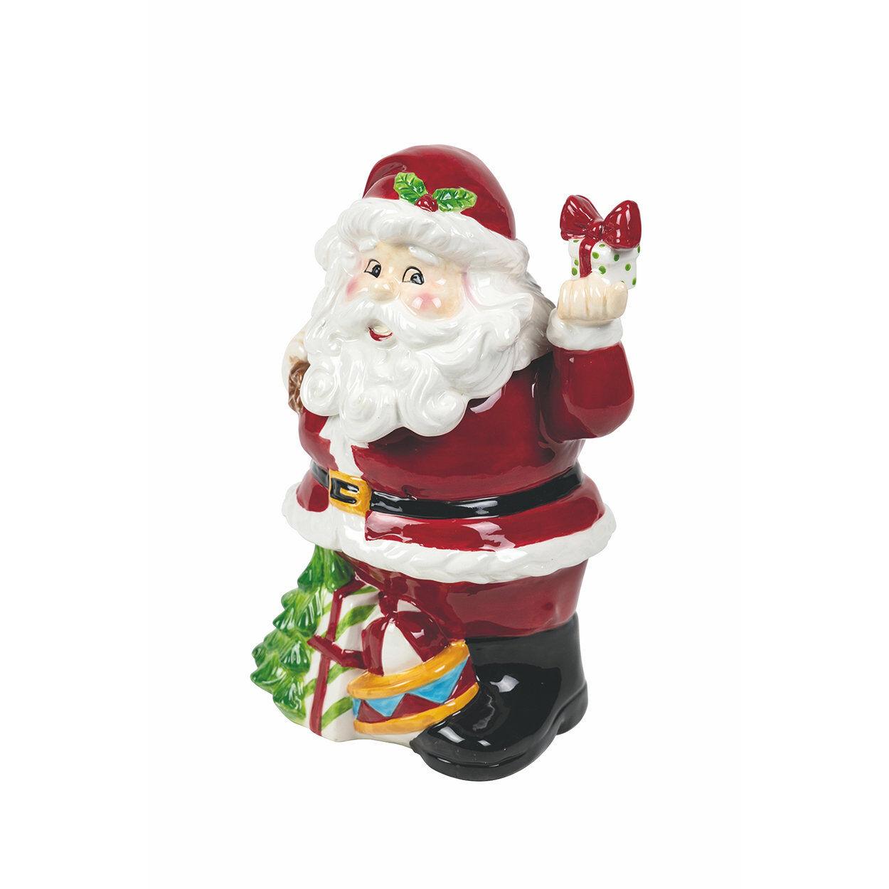 La tavola di Natale Biscottiera Babbo in piedi TRADITIONAL CHRISTMAS, multicolore