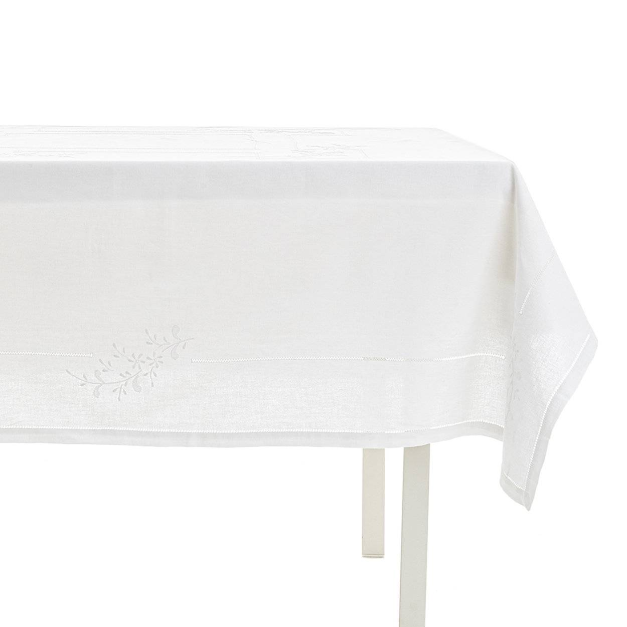 Zenoni & Colombi Tovaglia Francesca quadrata 180x180 8p bianco