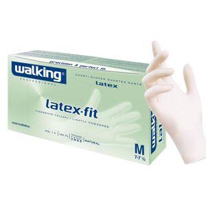 Walking Guanti Monouso Bianchi In Lattice Con Polvere -  Latex Fit