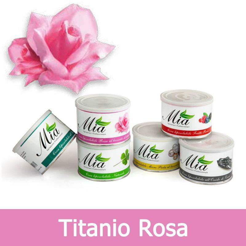 mia cosmetici cera depilatoria titanio rosa liposolubile in barattolo 400 ml