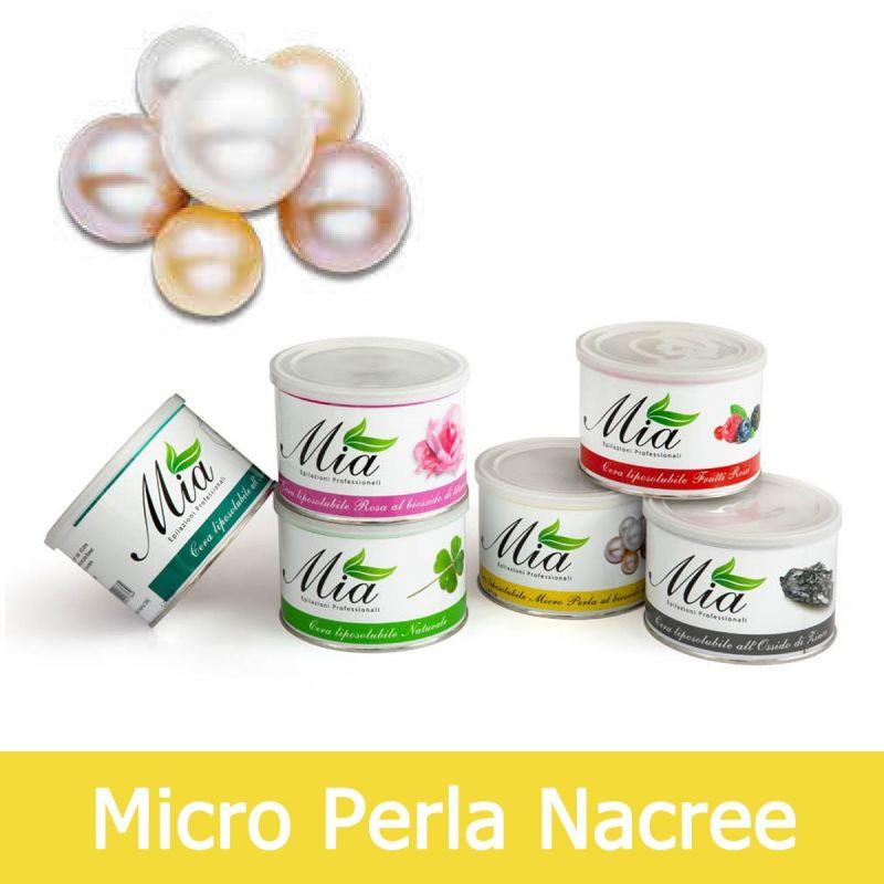 mia cosmetici cera depilatoria micro perla al biossido di titanio liposolubile in barattolo 400 ml
