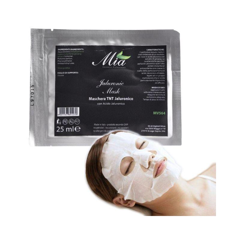 mia cosmetici maschera viso imbevuta in tnt con acido jaluronico e ginseng