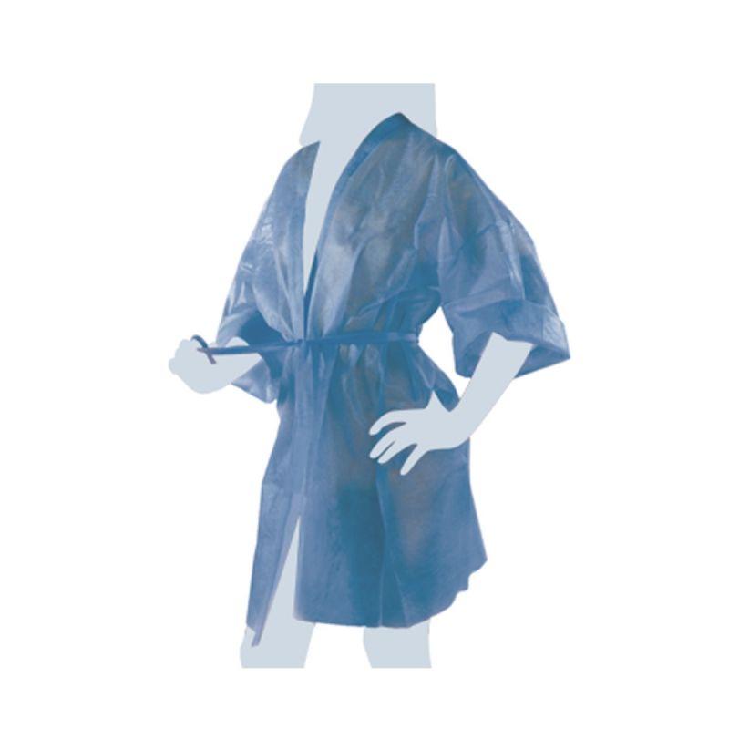 Axima Kimono Monouso Nero Imbustato Singolarmente Con Taschino E Cintura - 10 Pezzi