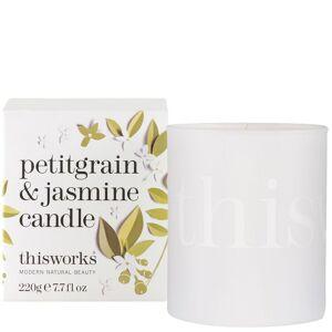 thisworks Gifts Candela Petitgrain & Jasmine 220g Edizione Limitata