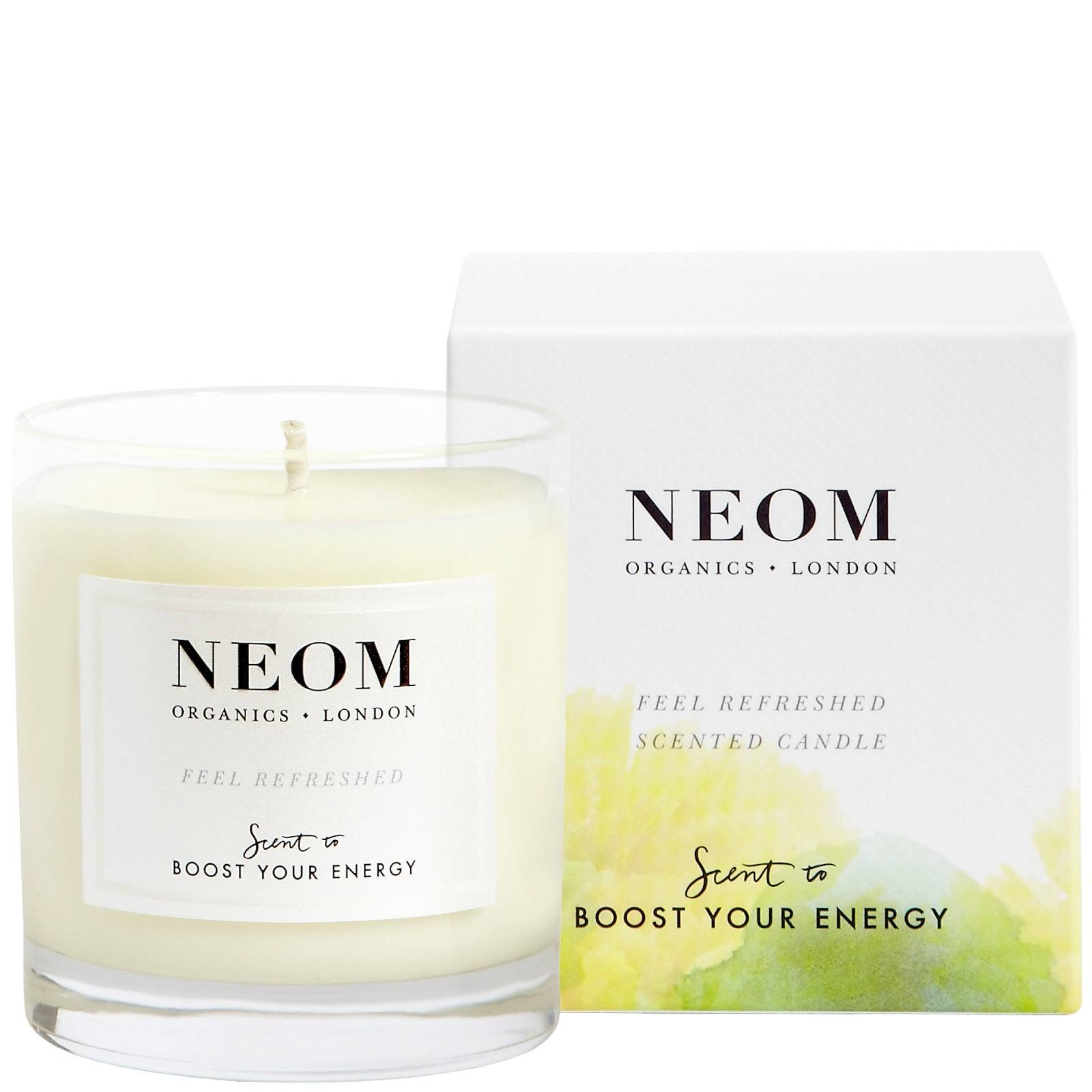 Neom Organics London Scent To Boost Your Energy Sentirsi rinfrescato candela profumata (1 stoppino) 185g