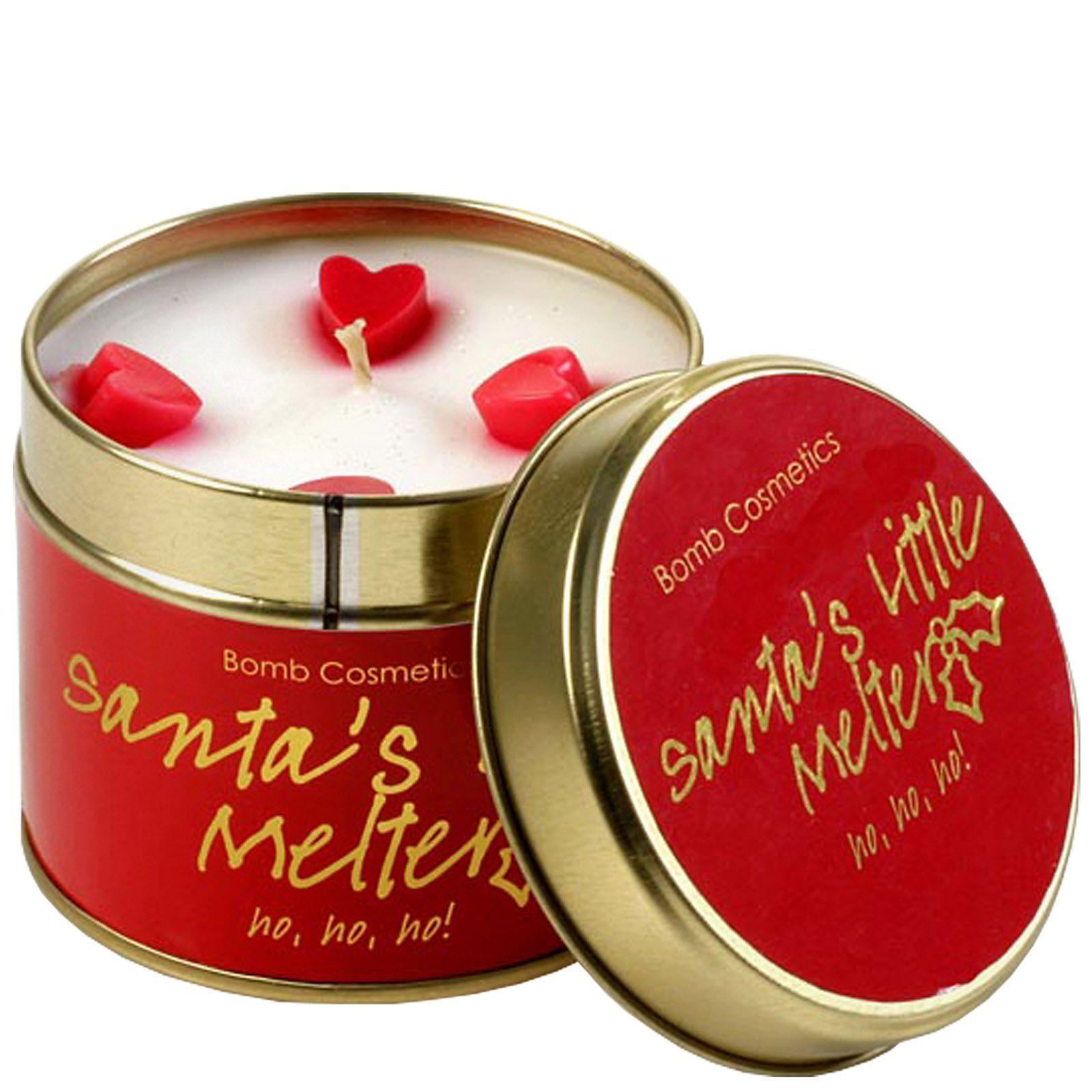 Bomb Cosmetics Tinned Candle Melter poco di Babbo Natale: Latta della candela