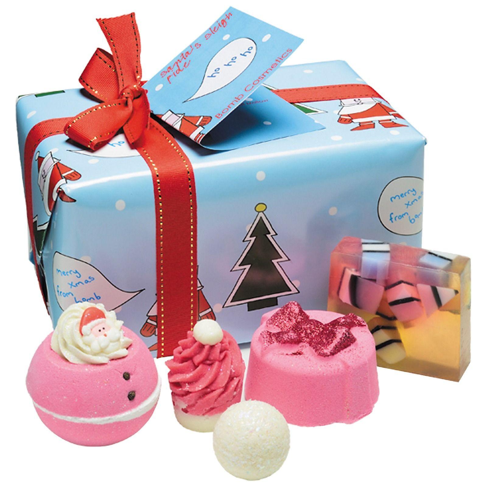 Bomb Cosmetics Gift Packs Babbo Natale slitta Ride confezione regalo