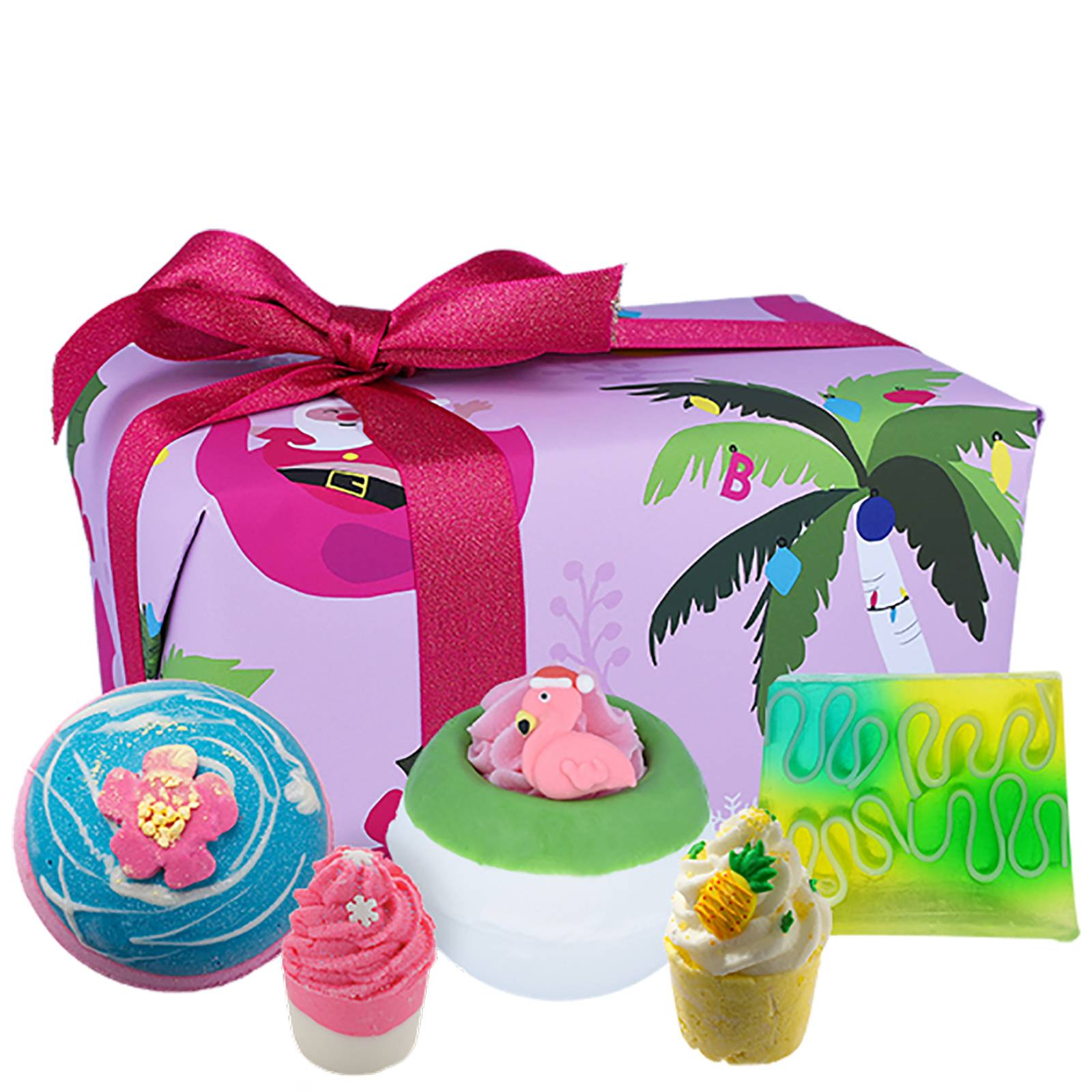 Bomb Cosmetics Christmas 2020 Pacchetto regalo Tropicana di Natale