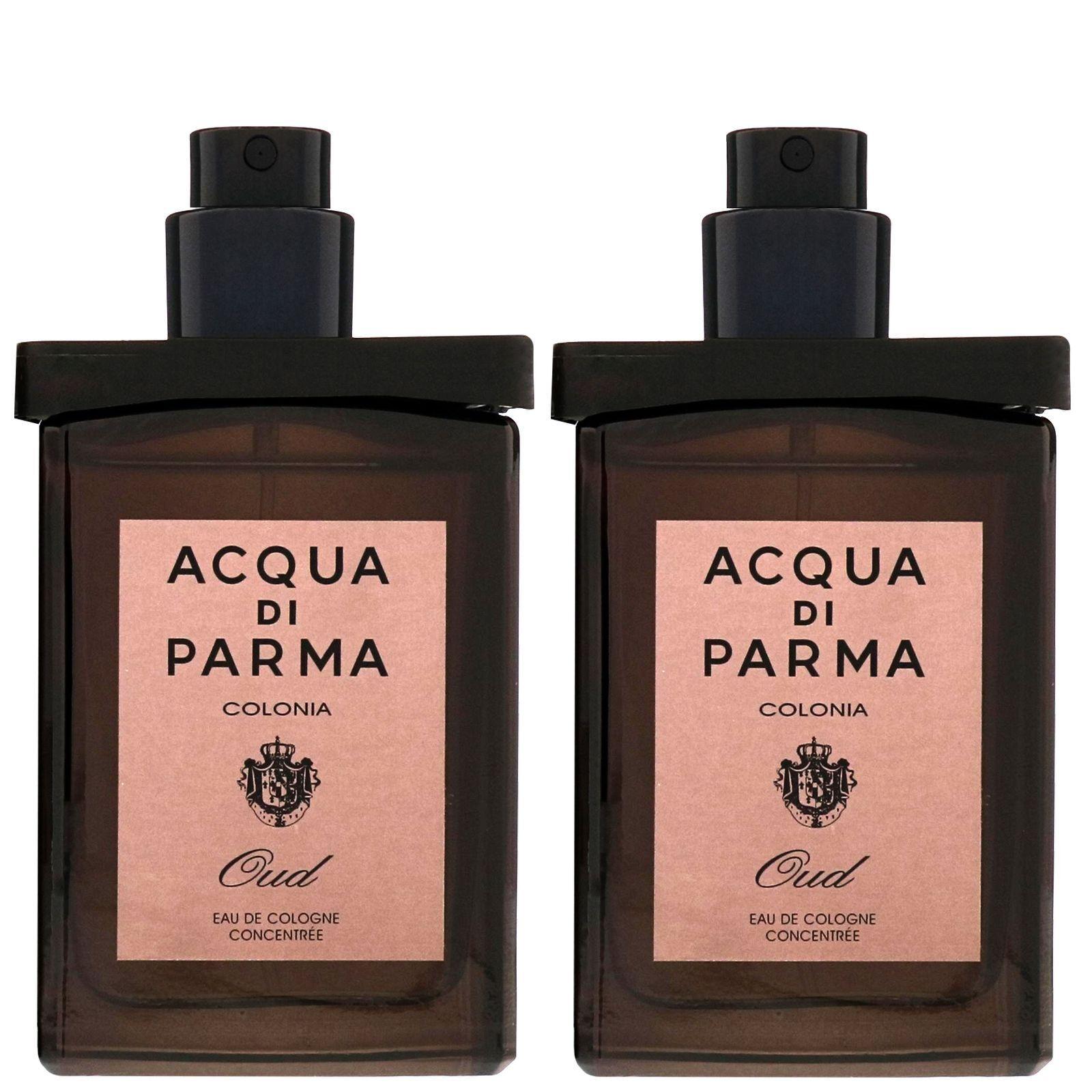 Acqua di Parma Colonia Oud 30ml Eau de Cologne Concentree Travel Spray ricarica 2 x