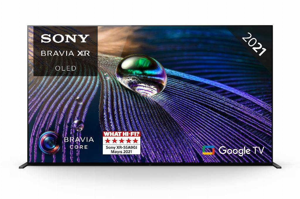 sony xr-55a90j - smart tv oled 55 pollici, 4k ultra hd, hdr, con google tv (nero, modello 2021)